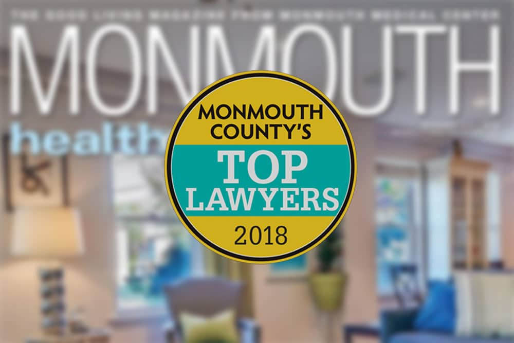 Megan S. Murray, Esq. Chosen As One Of Monmouth County's Top Lawyers 2018